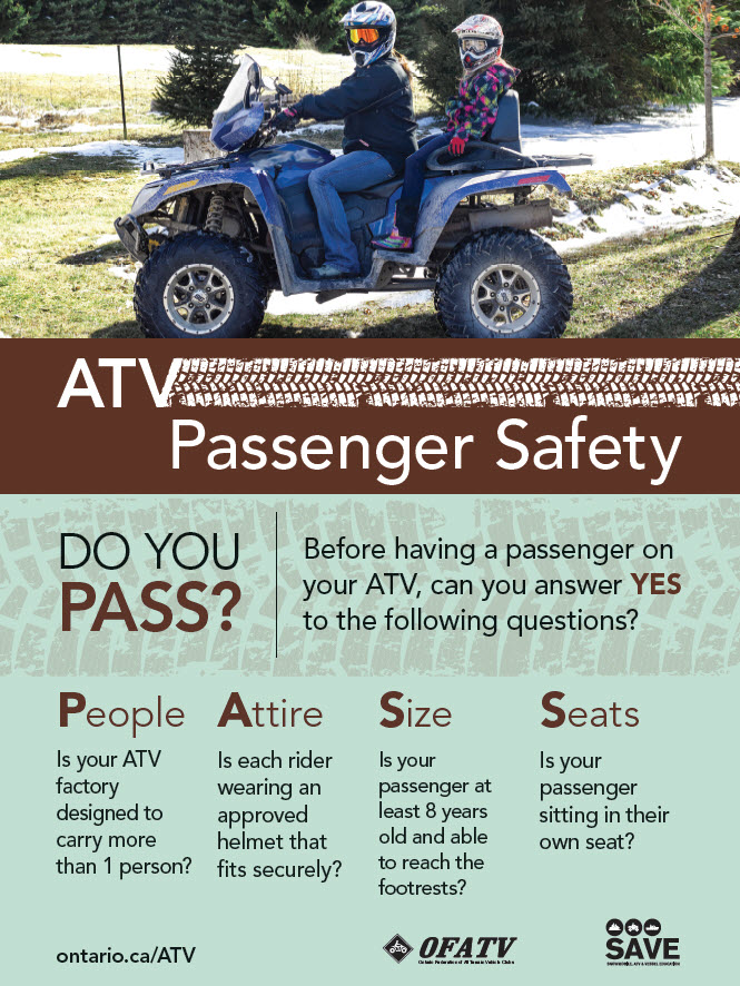 ATV Passenger Safety Poster
