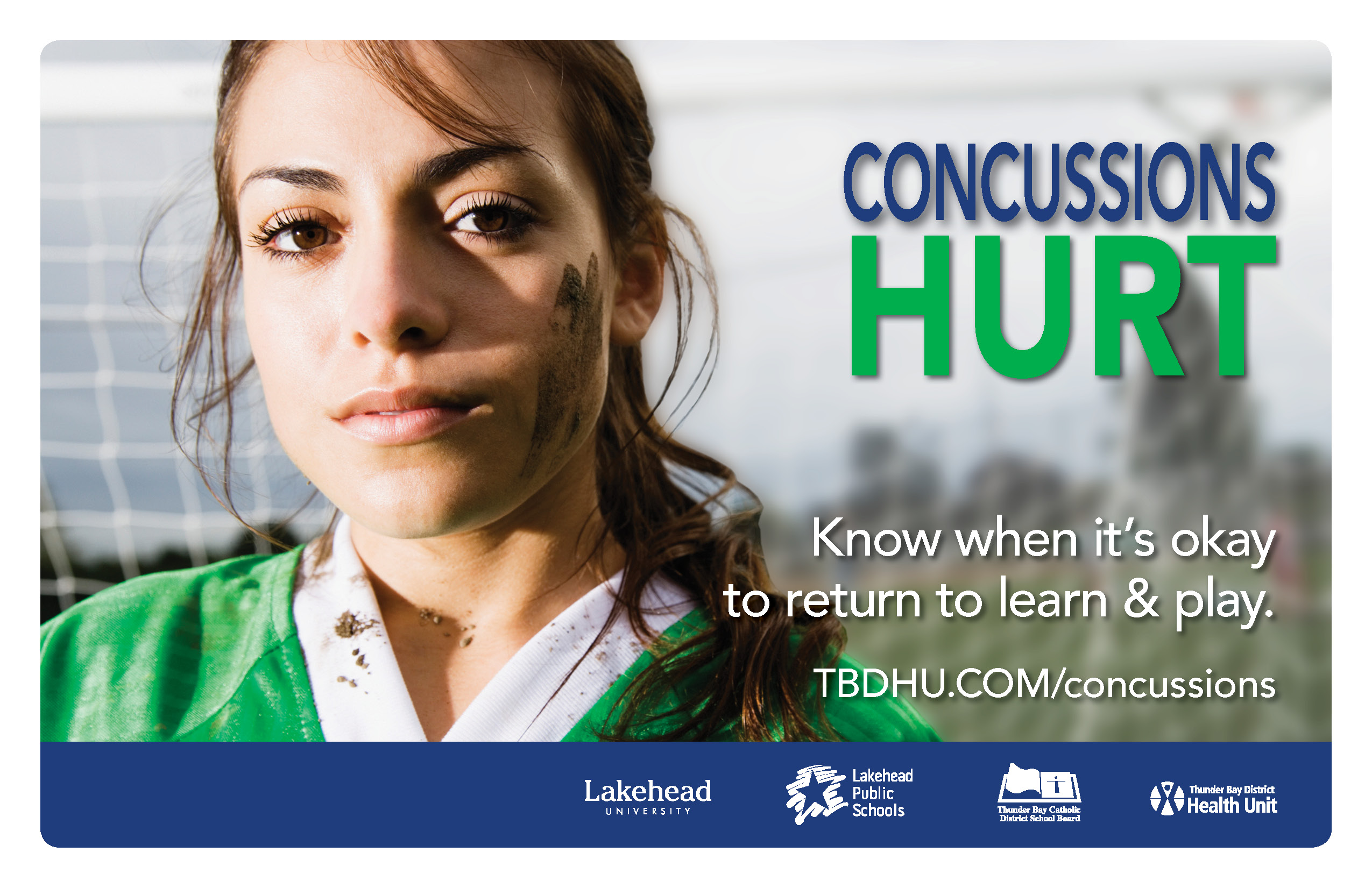 Concussions Hurt - teenage female soccer player