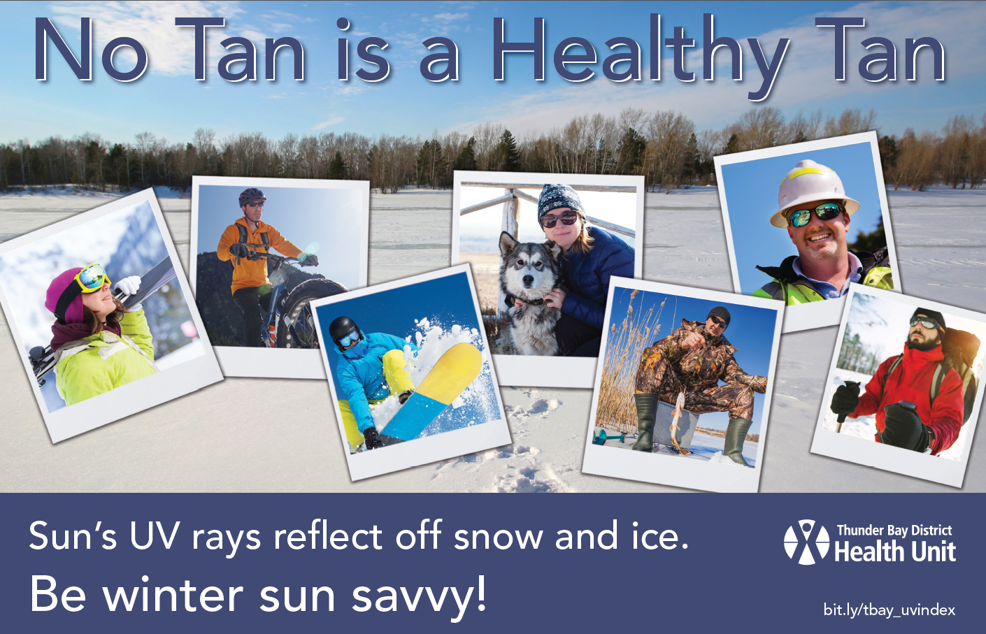 No Tan is a Healthy Tan - Winter Poster