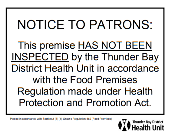 Notice to Patrons Poster