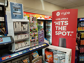 Vype Marketing in Convenience Store
