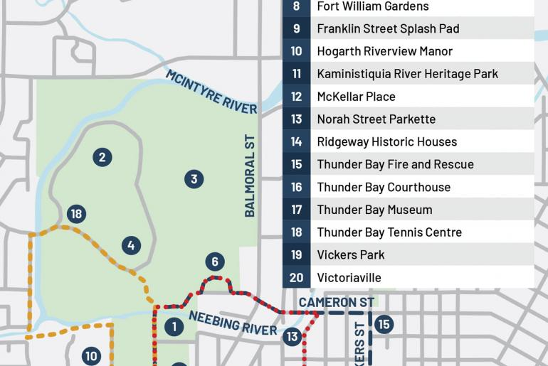 Walking Routes in Thunder Bay