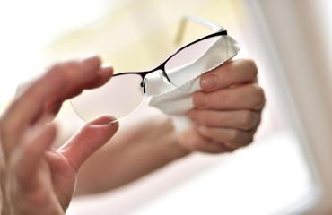 Wiping eyeglasses