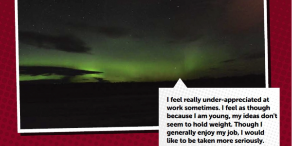 Picture of Northern Lights with Quote