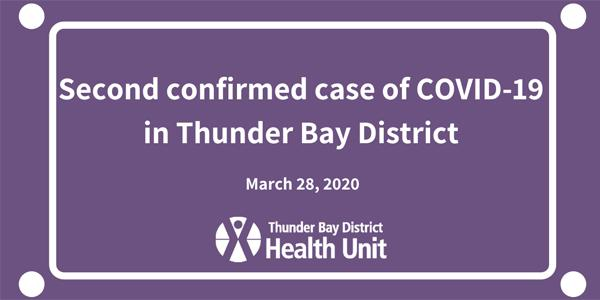 Thunder Bay District Health Unit Confirms Second Case of ...
