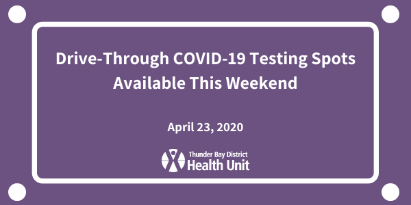 Drive-Through COVID-19 Testing Spots Available This Weekend