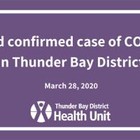Thunder Bay District Health Unit Confirms Second Case of COVID-19