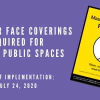 Masks or Face Coverings required for Indoor Public Spaces
